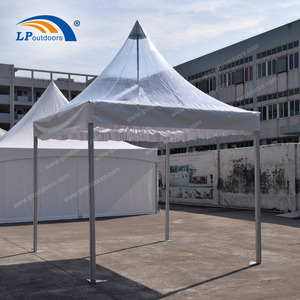 Clear pvc roof cover pagoda tent aluminum structure as entrance