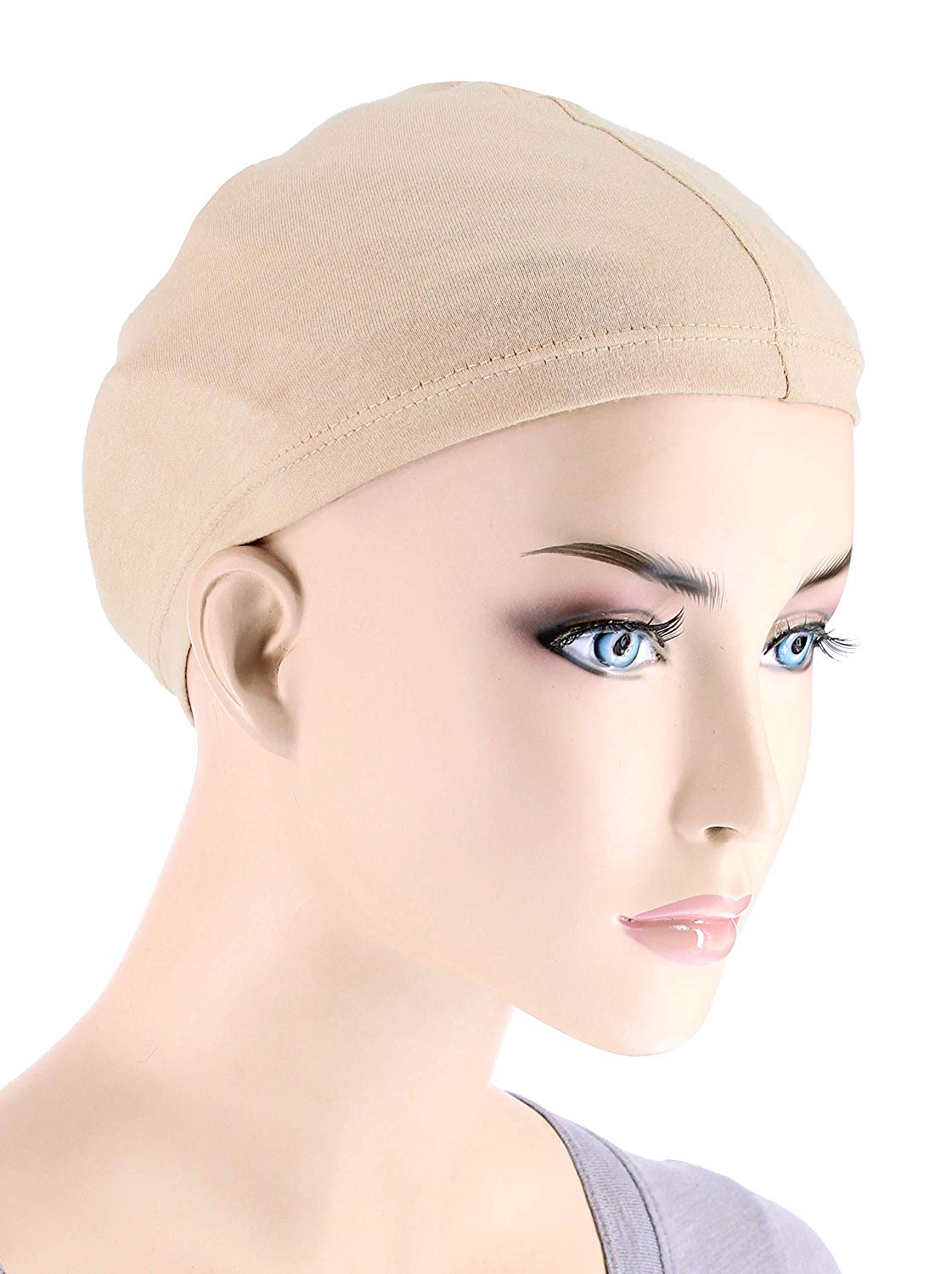 Get Quotations · Bamboo Wig Liner Cap in Beige 2 pc pack for Women with  Cancer c52cd98ba4c1
