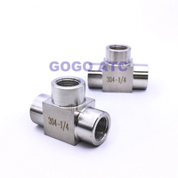 High quality Quick coupler ZG 1/2'' female thread stainless steel 304 sanitary three 3 way T type high pressure connect tubing f