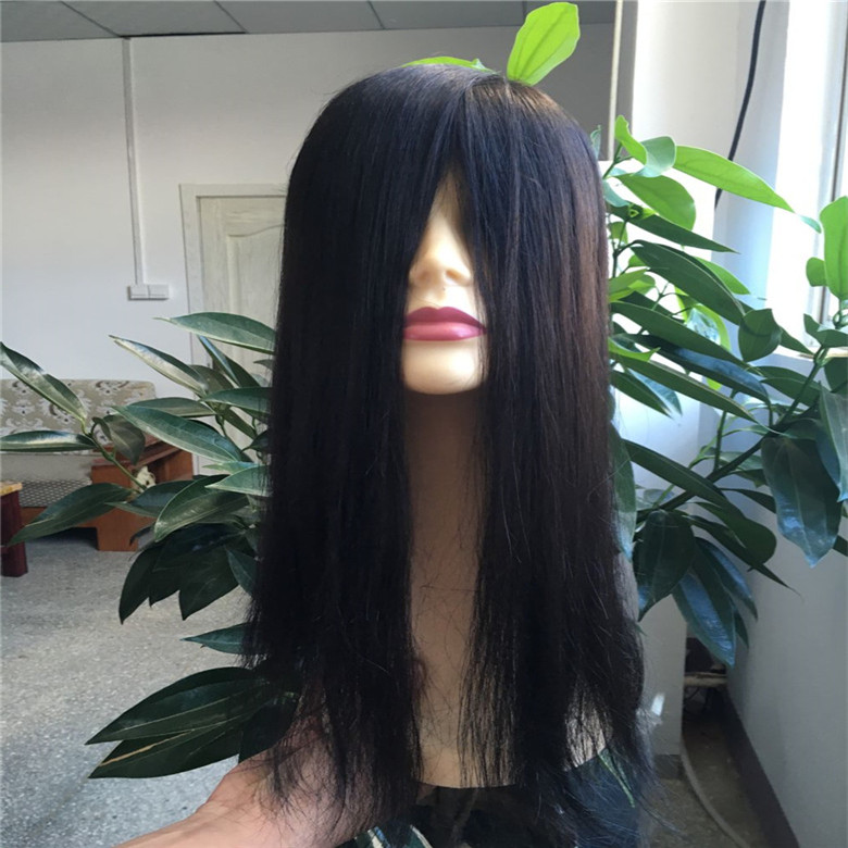 Wholesales price non surgical hair replacement long hair toupee remy human hair toupee for women