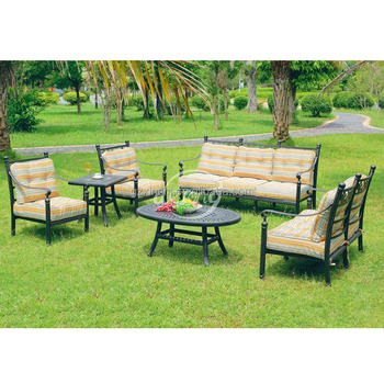 Amazing Derong DR 2170 Garden Sofa Furniture New Model Sofa Sets Pictures Cast  Aluminum Sofa Set