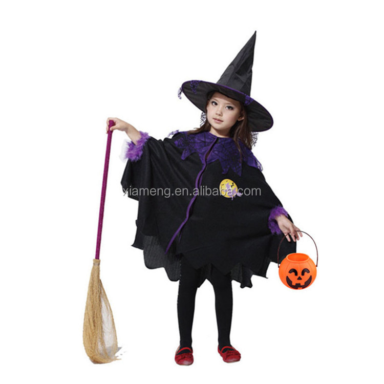 New fashion design wholesale witch costume halloween child