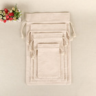 Jewelry Gift Drawstring Bags Wedding mini cotton muslin drawstring pouch