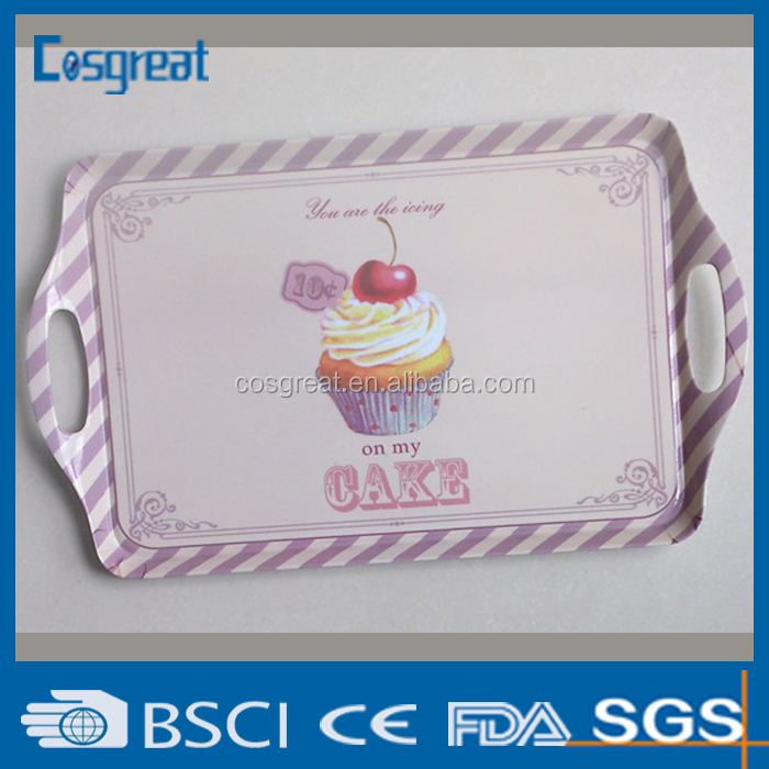 large size melamine food tray for restaurant