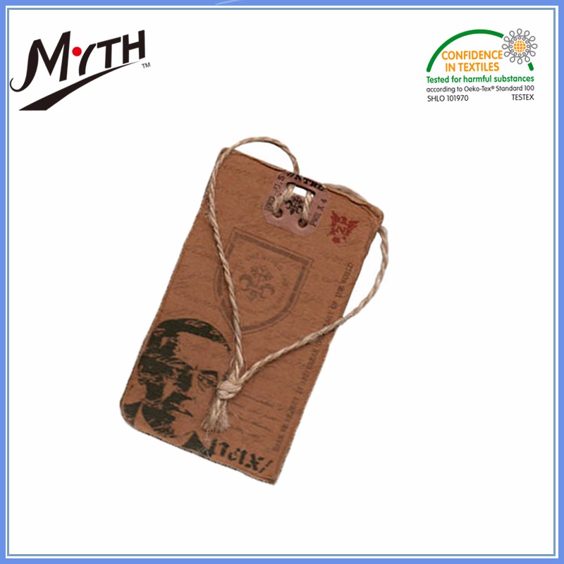 Wholesale all garment accessories manufacturer swing tags paper clothes hang tag