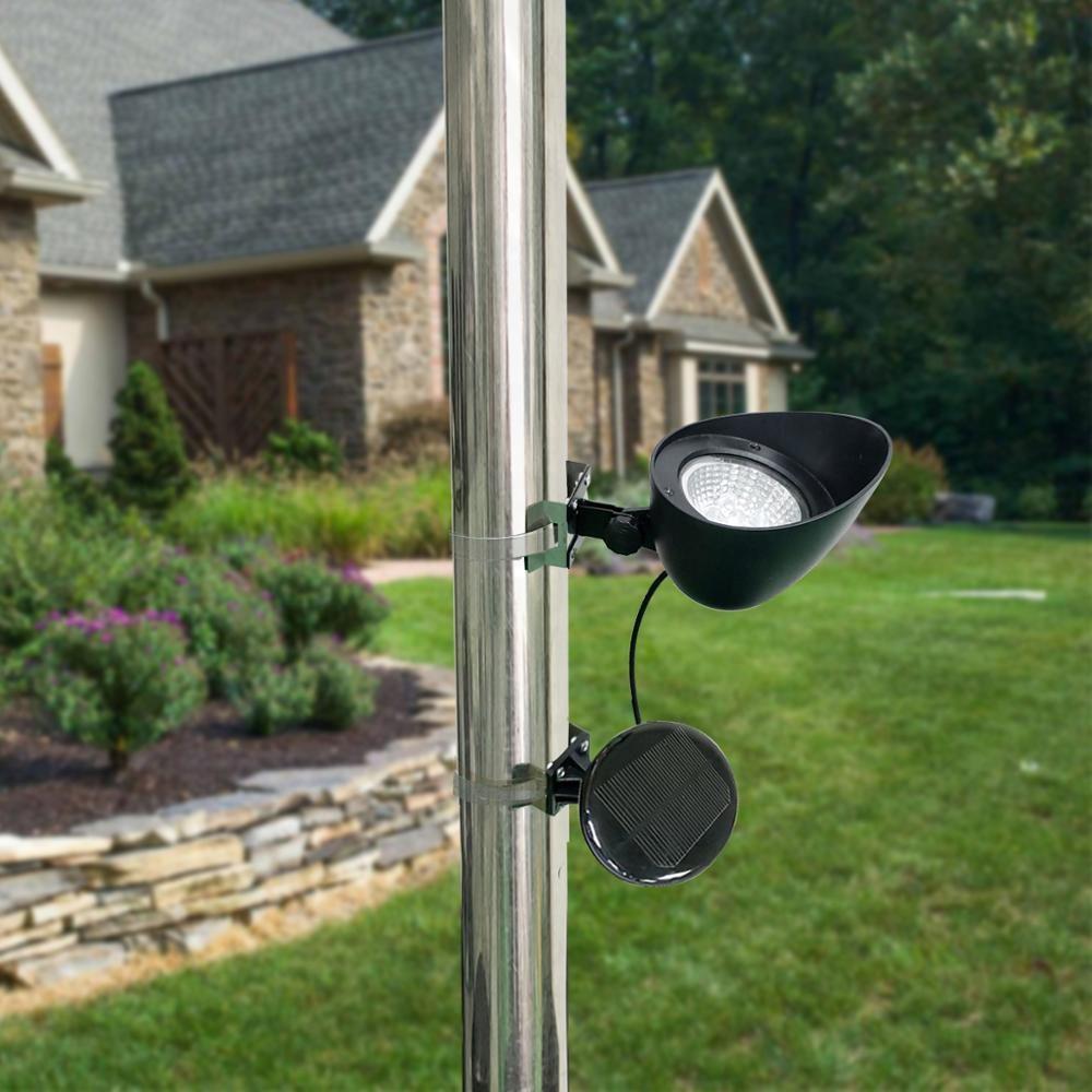 2019 Cheap Price Outdoor Waterproof LED Garden Spotlights Solar Flag Pole Light