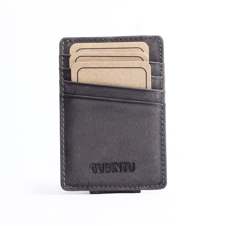 Slim Leather Money Clip <strong>Wallet</strong> Manufacturer