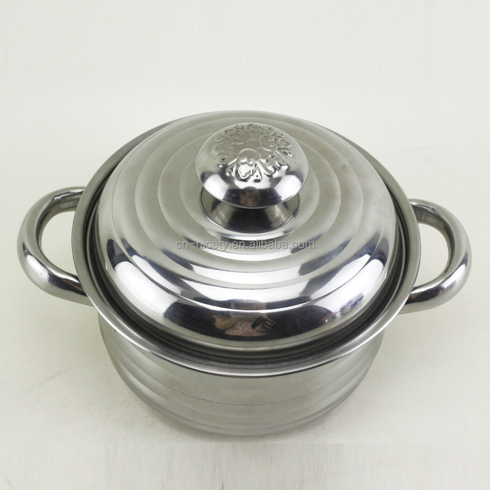 6pcs Italian magnetic stainless steel kitchen queen cookware pot ...