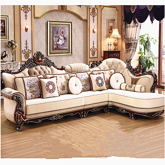 Living Room Modern Brown Leather Luxury Synthetic Leather Sofa Sets ...