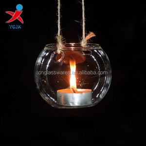 hand made hanging glass ball votive candle holder/glass tealight holders