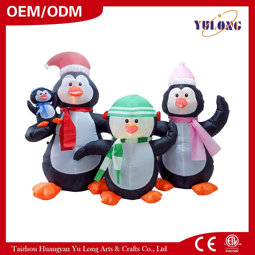 HOT Inflatable Penguin Family Christmas