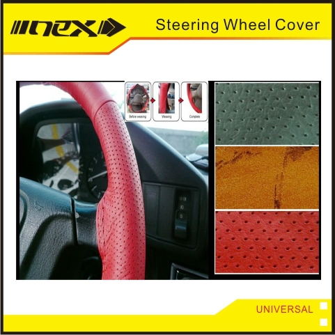 Leather or PVC Colored Truck Car Steering Wheel Cover