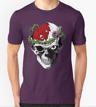 Wholesale cheap price skull tattoo t shirt quality skull for Tattoo t shirts wholesale