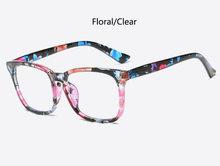 Прозрачные женские очки модные квадратные очки прозрачные линзы ретро оптические очки дамские Роскошные брендовые фиолетовые очки(Китай)