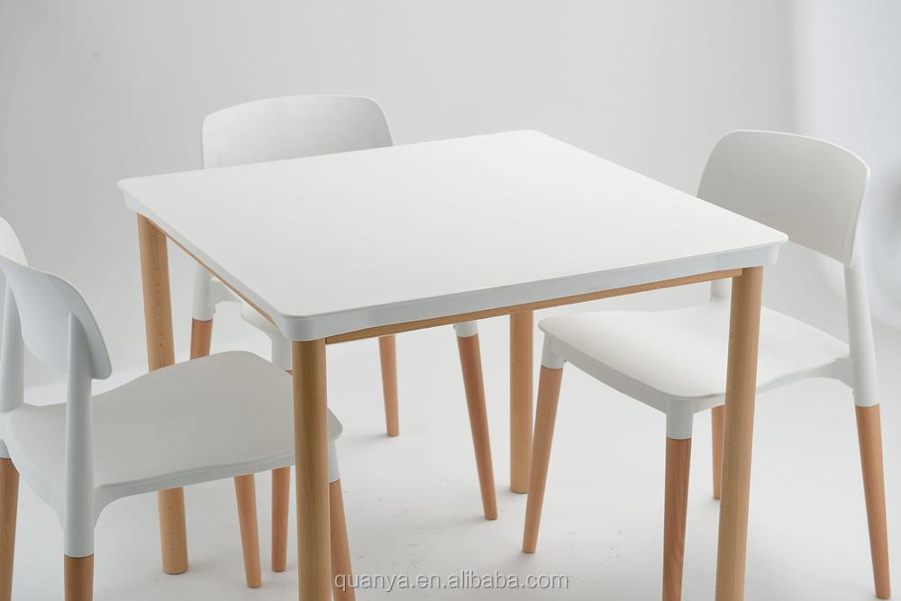 Mdf cuadrados elegante diseño superior con pata de palo carteen ...