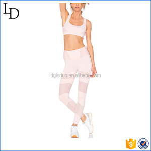 Pink hot sale yoga sport clothes bra and yoga pants sets for women