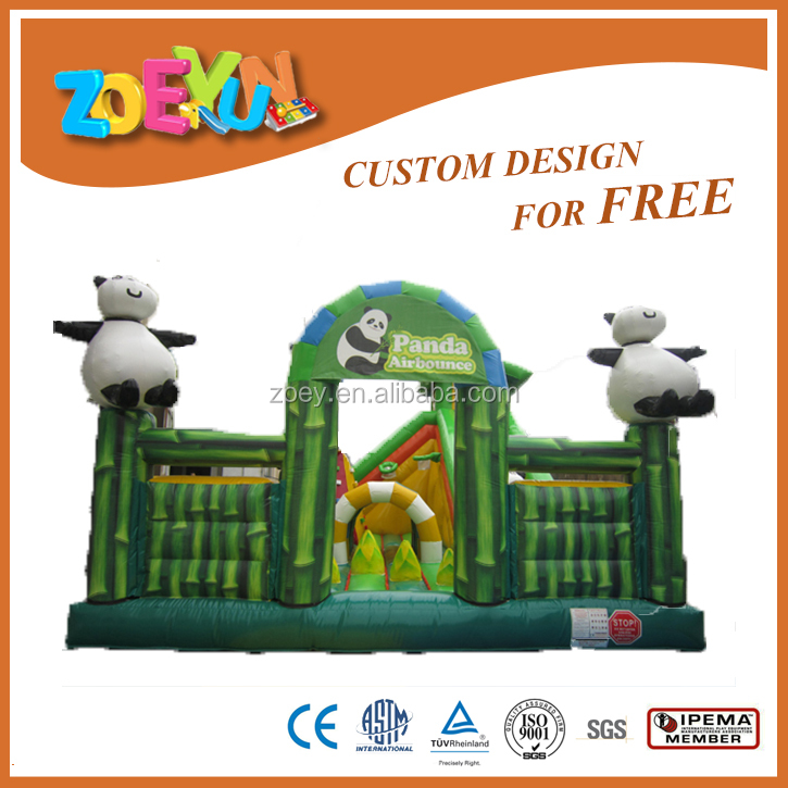 Panda inflatable bounce obstacle hot sale
