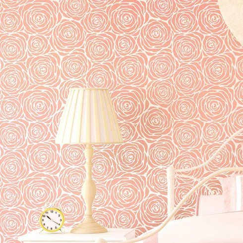 NEW! - Roses Allover Stencil - Large- Stencil Designs for Home Décor - Better Then Wallpaper! - Trendy Wall Stencils for Wall Décor - Easy DIY Wall Décor - By Cutting Edge Stencils