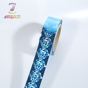 Custom holographic waterproof label sticker printing roll