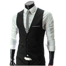 Hot Sale! 2015 Autumn Men's Slim Fit Dress Suit Vest Waistcoats, Men Gilet Colete Fashion chaleco Hombre, Brand New