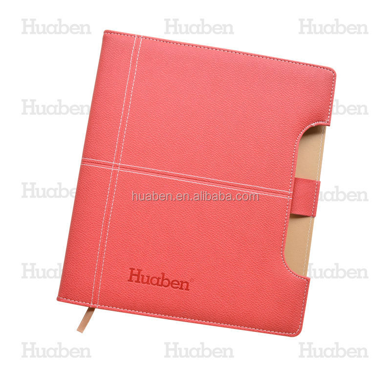 2017 Huaben personalised leather notebook PU hardcover address notebook manufacture in China