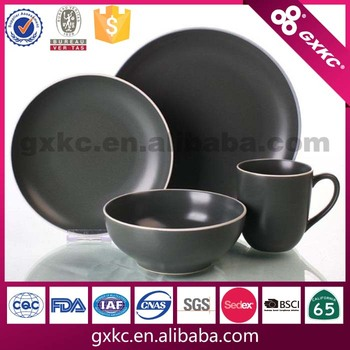 16pcs stoneware dark green color matt glaze dinnerware set  sc 1 st  Guangxi Sanhuan Enterprise Group Holding Co. Ltd. - Alibaba & 16pcs stoneware dark green color matt glaze dinnerware set View ...