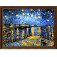 vincent van gogh the starry night landscape famous oil canvas painting reproduction from china scenery picture frame living room