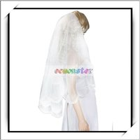 2012 Cheap Ivory Flower Lace Wedding Bridal Veil -13007600