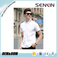 high quality cotton latest design white business shirt short sleeve mens dress shirts