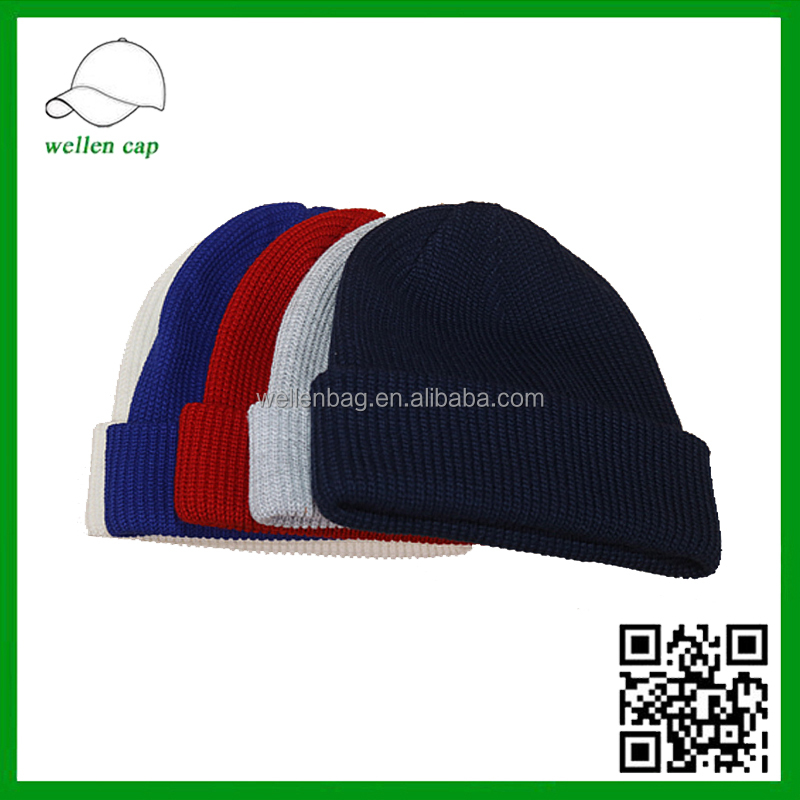 Western Fashion Blank Acrylic Ribbed Cheap Wholesale Thick Knit Bulk Beanie