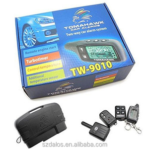 Russia version two way fm wireless tomahawk car alarm with LCD key chain