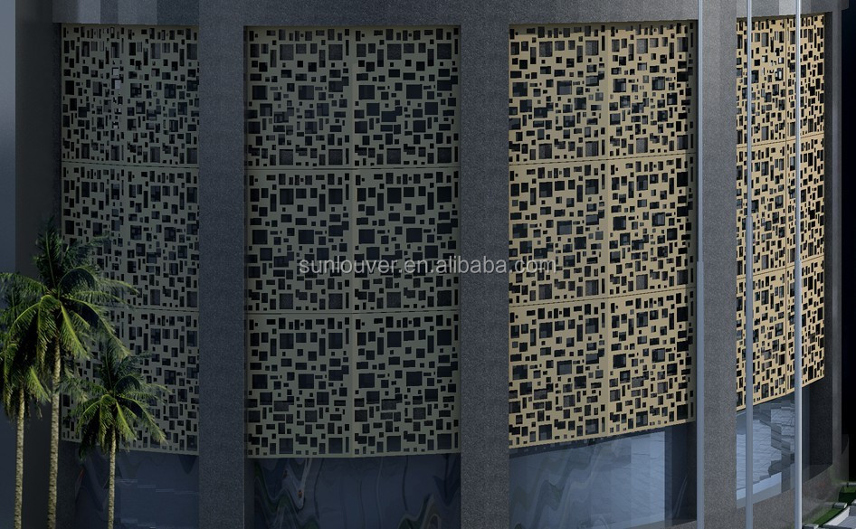 Metall perforiertem aluminium lasergeschnittenen dekor ...
