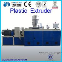 pvc wood plastic plate extruding machine/pvc sheet extrusion lineSJZ80