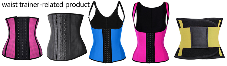 3656ad7a2f Wholesale nine steel bone corset big 3 hook stock Body Shaper women latex  waist Trainer