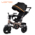 Cheap steel material cool car type manpower easy rider folding 4-in-1 kid smart trike with removable umbrella and parent pushbar