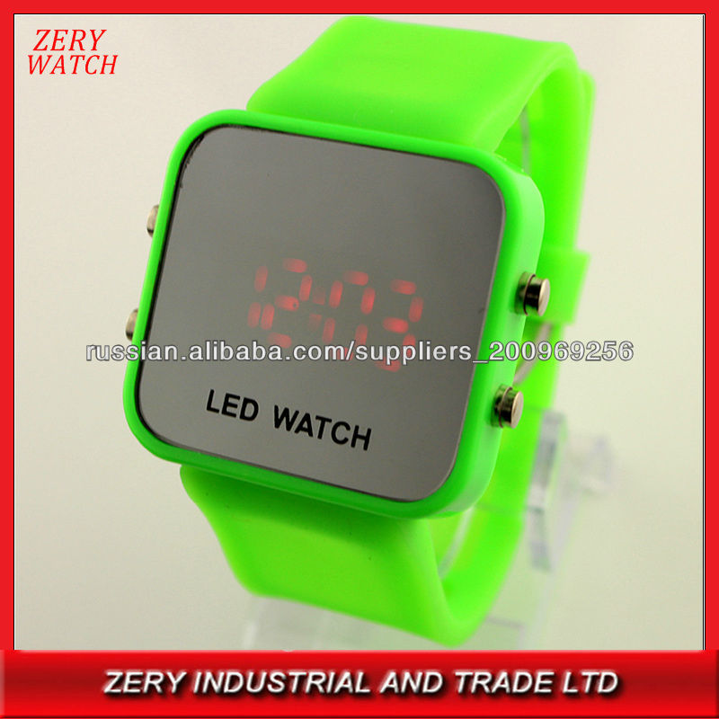 R0462 Cheap papypal accepted gifts led watch, silicone led watch unisex fashion wristwatch
