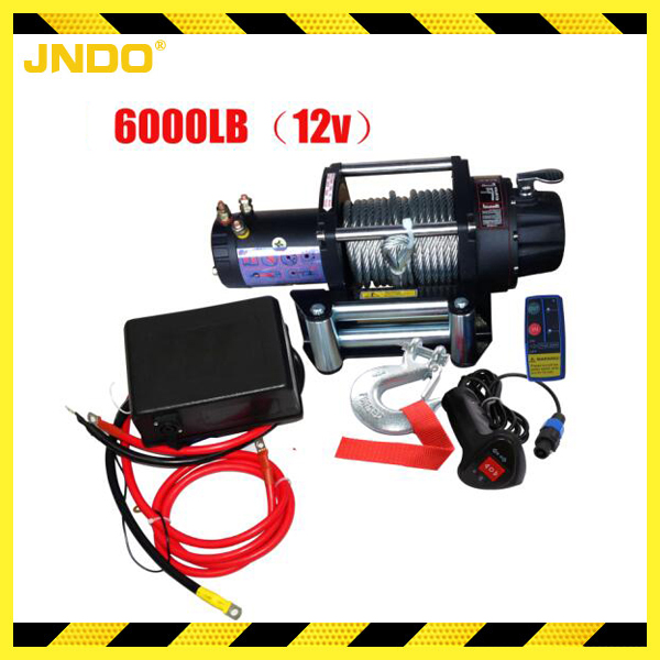 Series wound reliable 12V electric winch 3 ton