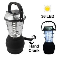 36 LED Super Bright Hand Crank Solar Power LED Lantern with Car Charger
