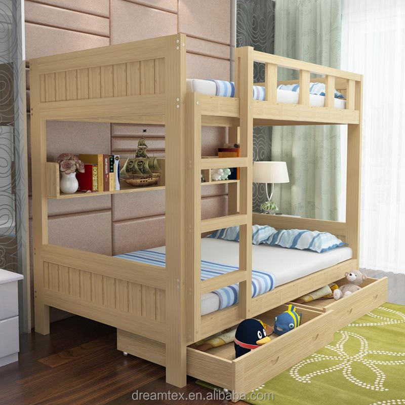 alta calidad nios cama doble cubierta nios literas nios capa doble cama de madera