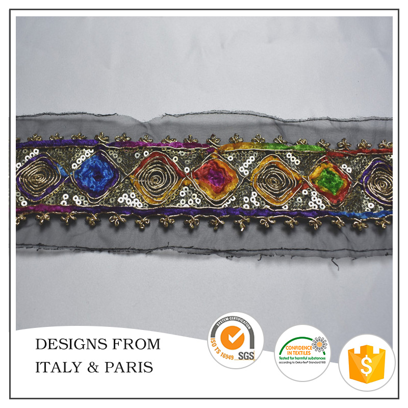 Wholesale New Design Embroidery Lace Trim for Garment