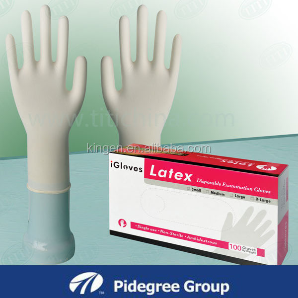 China Top Manufacturer Medical Supplies Surgical non-powder latex gloves wholesale