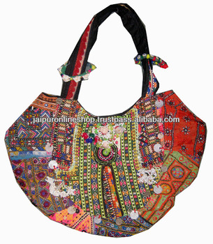 Ladies Embroidered Shoulder Bags Girls Hand Embroidered Bags