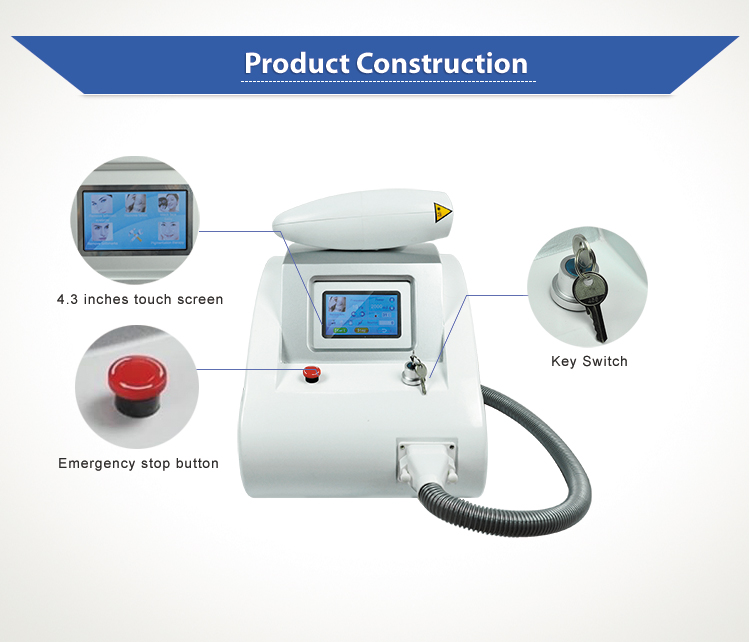 q switched nd yag tattoo removal machine/laser carbon peeling machine