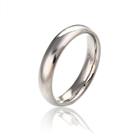 13162 xuping jewelry simple design white gold rhodium sterling silver color men's wedding finger ring without stone
