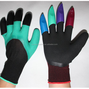 High Quality new Gardening Gloves for garden Digging Planting with 4 ABS Plastic Claws
