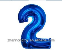 china supplier hot sale number shape foil mylar balloons wholesale
