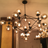 Industrial Style Vintage Bistro Globe Clear Glass Chandelier for Hotel