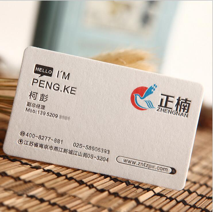 Customized Thick Special One Color Business Card,Visiting Card - Buy ...