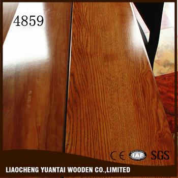 Wooden Pattern High Gloss Hdf Laminate Flooring Waterproof Buy