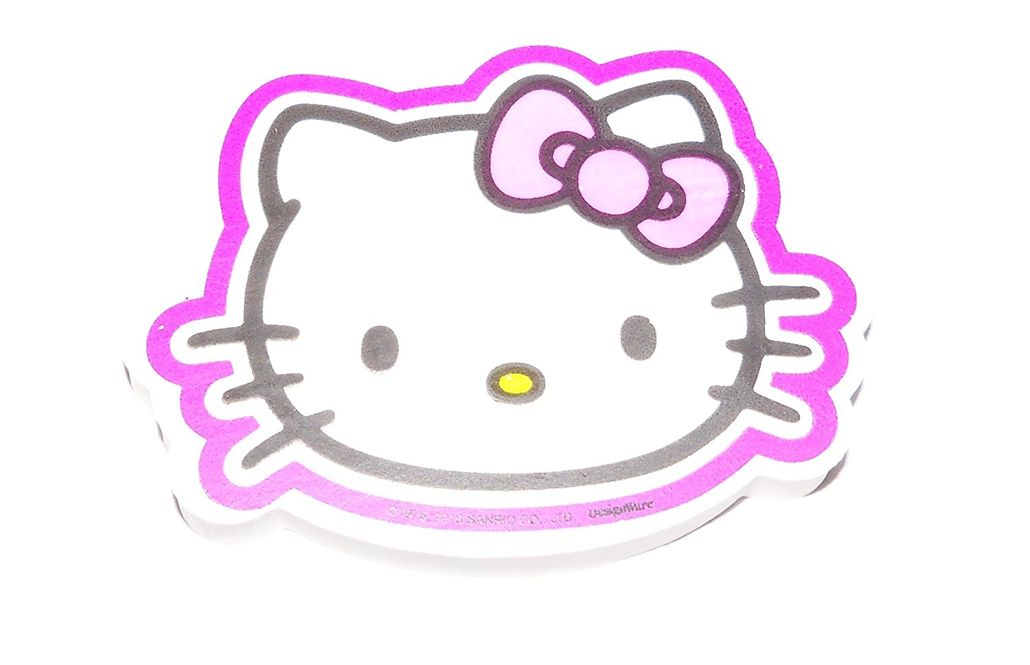 """Hello Kitty Jumbo Shaped Eraser ~ Cute Kitty Face with Purple Outline (1 Eraser; 3"""" x 2.25"""")"""